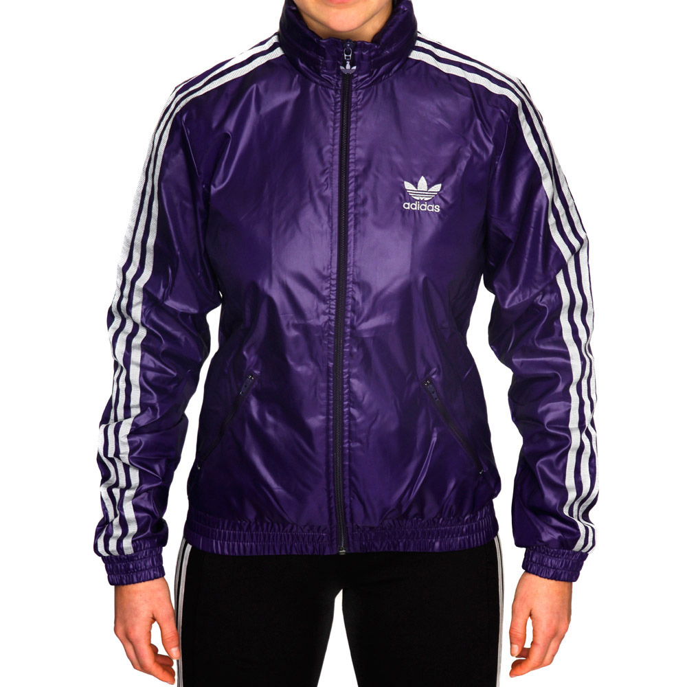 Adidas Originals Womens CR Windbreaker Jacket - Eggplant/Silver ...